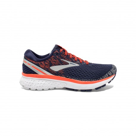 Brooks Ghost 11 Blu Navy Corallo Donna
