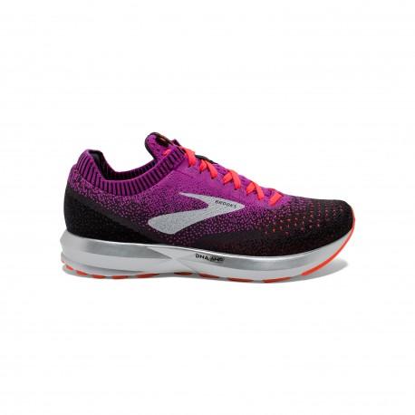 Nike T Shirt Donna Ml Run Dry Elmnt Hz Port Wine 855517 609