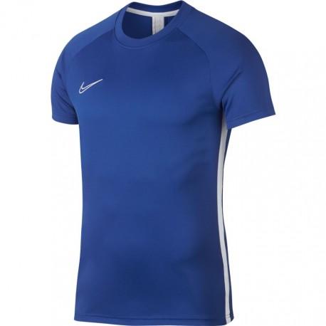 Nike T-shirt Manica Corta Dry Academy Blu Royal Bianco Uomo