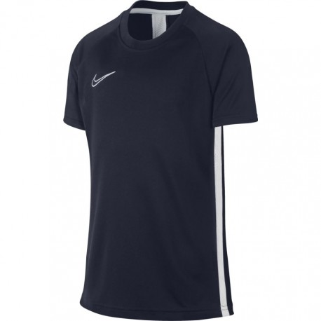Nike T-Shirt Manica Corta Dry Academy Blu Bianco Bambino