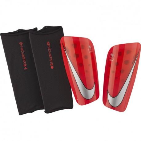 Nike Parastinchi Con Cavigliera Mercurial Lite Rosso Argento