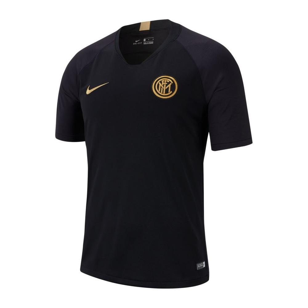 Nike T shirt Manica Corta Inter Strike Nero Oro Uomo