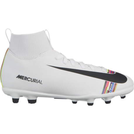 Nike Superfly 6 Club CR7 FG/MG Bianco Nero Bambino