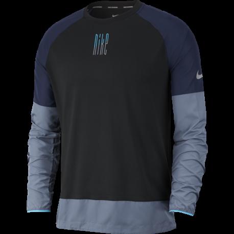 Nike Maglia Running Manica Lunga Element Nero Uomo