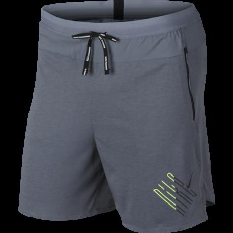 Nike Short Running 2in1 Wild Run Blu Nero Uomo