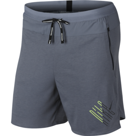 Nike Short Running 2in1 Wild Run Blu Nero Uomo