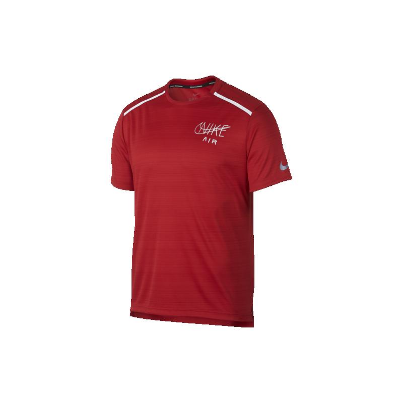 estetica di lusso pregevole fattura disponibilità nel Regno Unito Nike Maglia Running Manica Corta Dry Miler University Rosso Bianco Uomo
