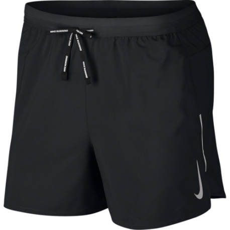 Nike Short Running 5in Flex Stride Nero Argento Uomo