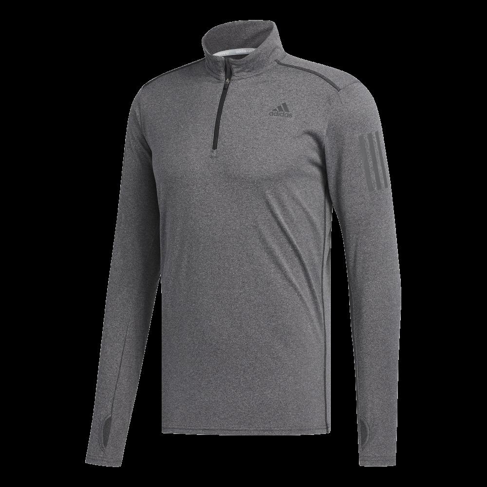 qualità eccellente qualità incredibile più recente ADIDAS maglia running manica lunga response zip grigio uomo ...