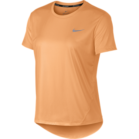 Nike Maglia Running Manica Corta Miler Arancio Donna