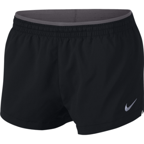 Nike Short Running 3in Elevate Nero Grigio Donna