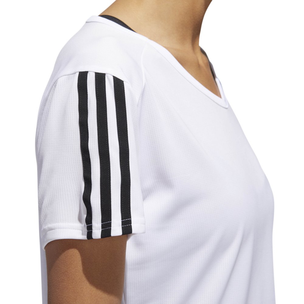 adidas 3 stripe long sleeve top donna nero
