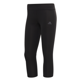 Adidas Tight 3/4 Running Response Bianco Nero Donna
