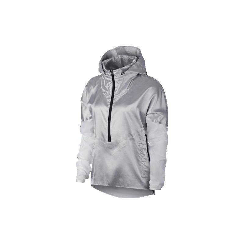 Giacca Tech Bianco Grigio A Donna Vento Running Pack Acquista Nike TWIqdI