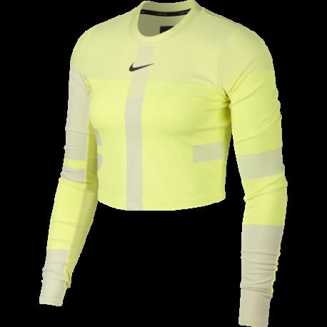 Nike Maglia Running Manica Lunga Tech Pack Verde Crema Uomo