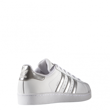 free shipping 14bed 5cfb3 Adidas Superstar Bianco Argento Donna Adidas Superstar Bianco Argento Donna