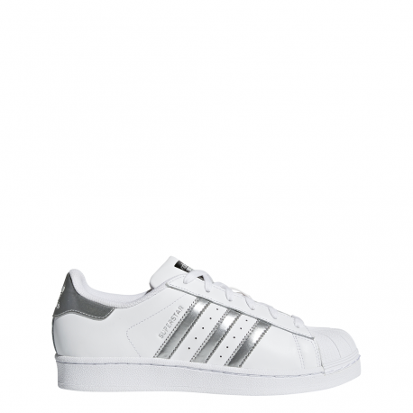 cheap for discount bc5e7 965b3 Adidas Superstar Bianco Argento Donna ...