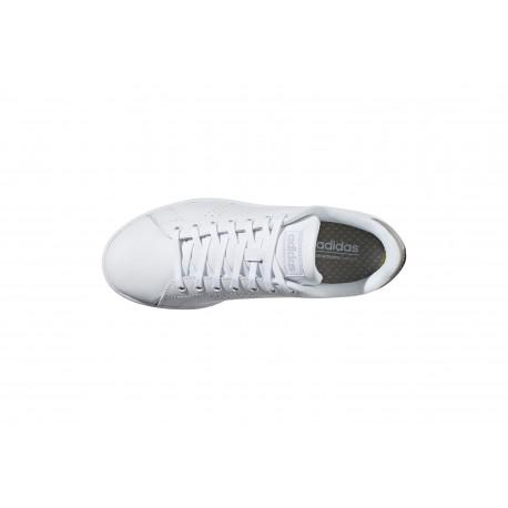 Adidas Advantage Bianco Argento Donna