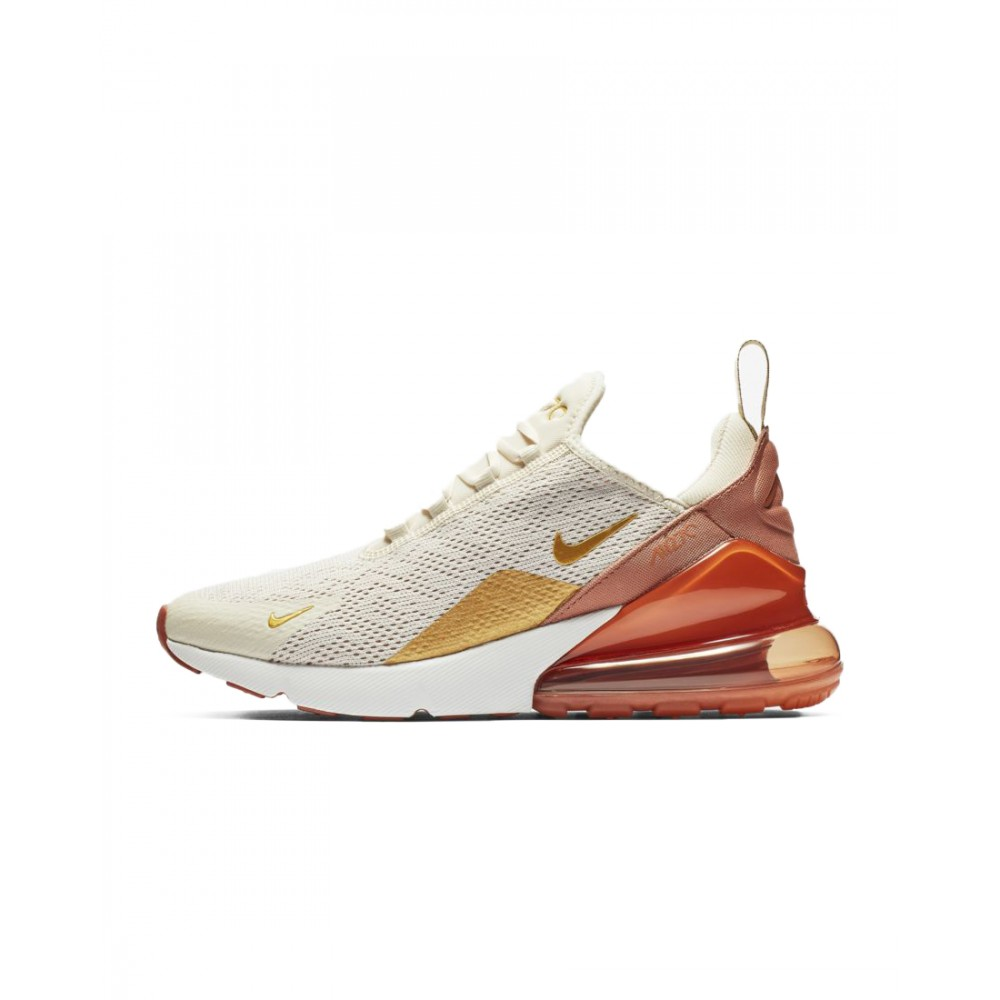 sports shoes 6fed6 76f26 ... Nike Air Max 270 Essential Bianco Oro Donna ...