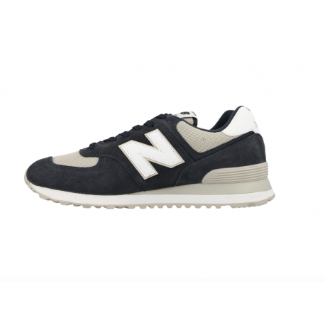 New Balance 574 Nero Bianco Uomo