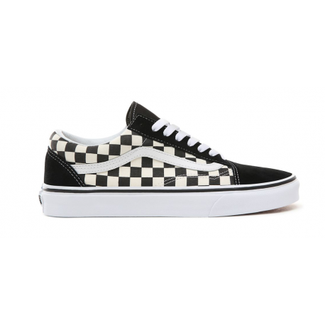Vans Old Skool Primary Check Nero Bianco Unisex