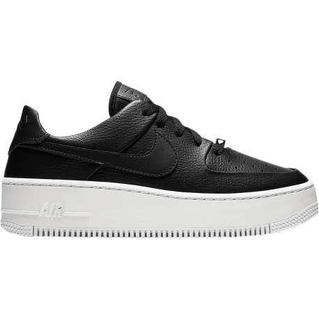 super cute bf723 d6e23 Nike Air Force 1 Sage Platform Nero Donna ...