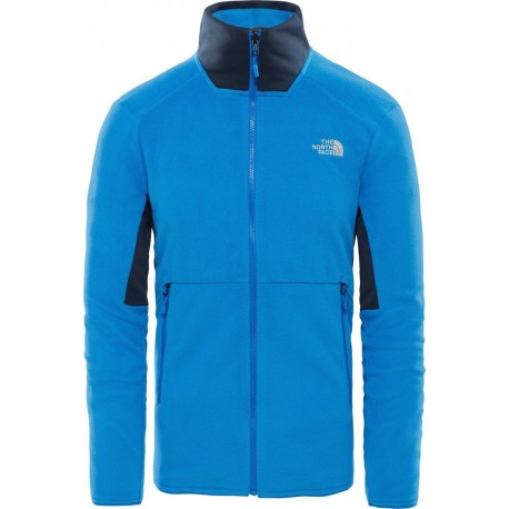 The North Face Felpa In Pile Kabru Azzurro Uomo