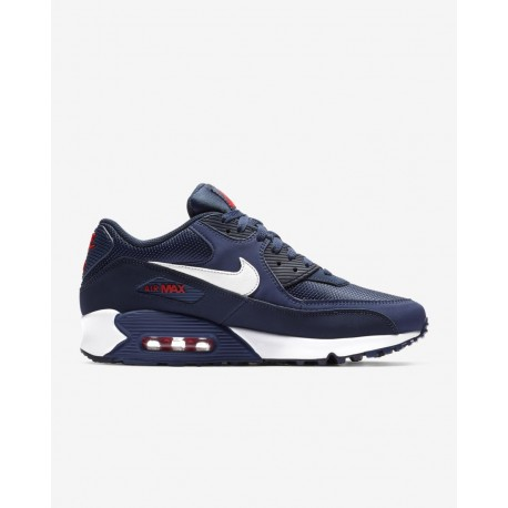 innovative design bbe55 bec35 Nike Air Max 90 Essential Navy Bianco Uomo ...