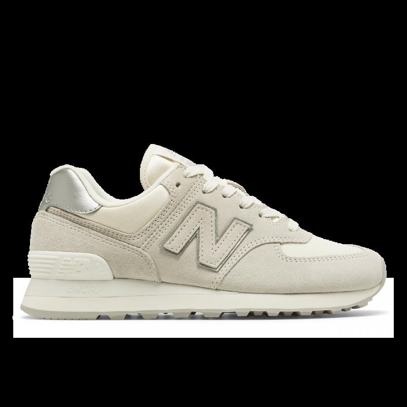 new balance 574 sneaker donna bianco