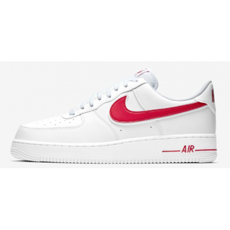 Nike Air Force 1 07 Bianco Rosso Uomo