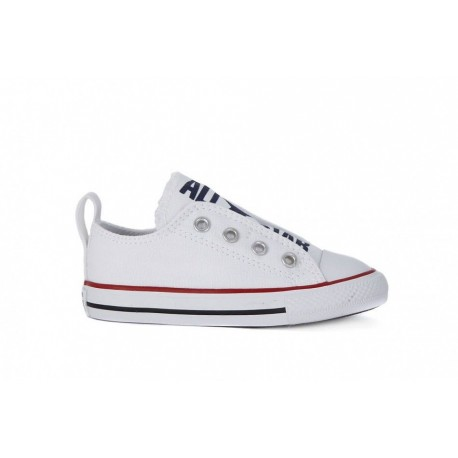 Converse Chuck Taylor All Star Slip On Ox Bianco Bambino