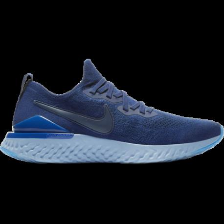 Nike Epic React Flyknit 2 Blu Nero Uomo