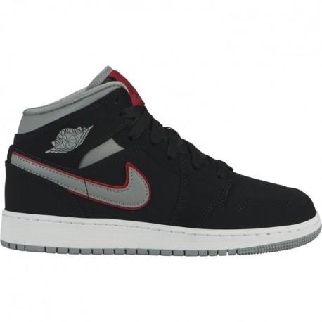 Nike Air Jordan 1 Mid GS Nero Grigio Bambino