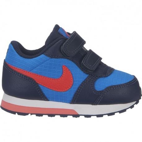 Nike Md Runner 2 TDV Blu Rosso Bambino