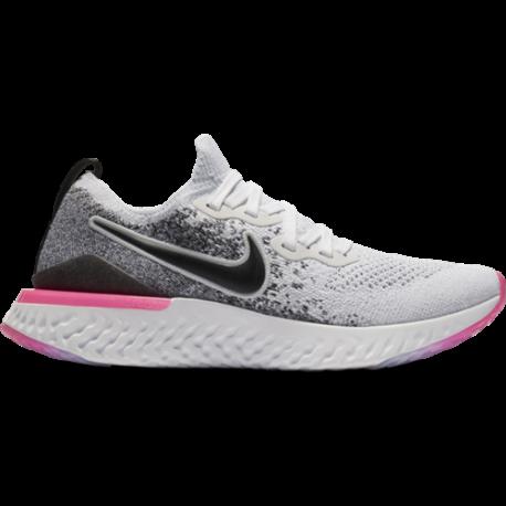 Nike Epic React Flyknit 2 Bianco Nero Rosa Donna