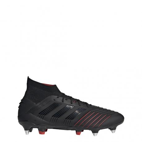 Adidas Predator 19.1 SG Nero Rosso Uomo