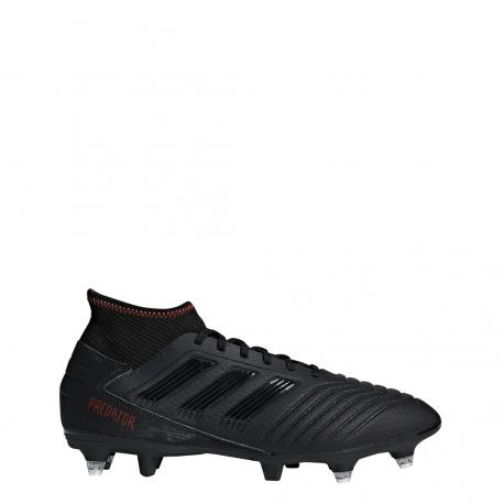 Adidas Predator 19.3 SG Nero Rosso Uomo