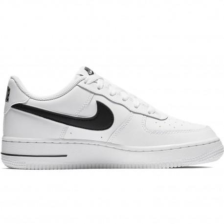 Nike Air Force 1 1-3 GS Bianco Nero Bambino