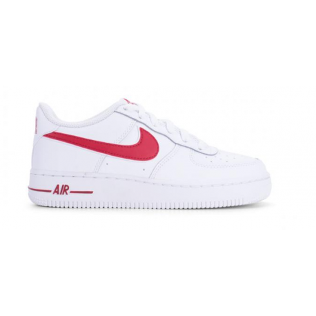 Nike Air Force 1 1-3 GS Bianco Rosso Bambino