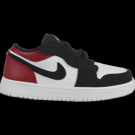 Nike Air Jordan 1 Low Alt PS Rosso Nero Bambino