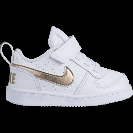 Nike Court Borought Low TDV Bianco Oro Bambino