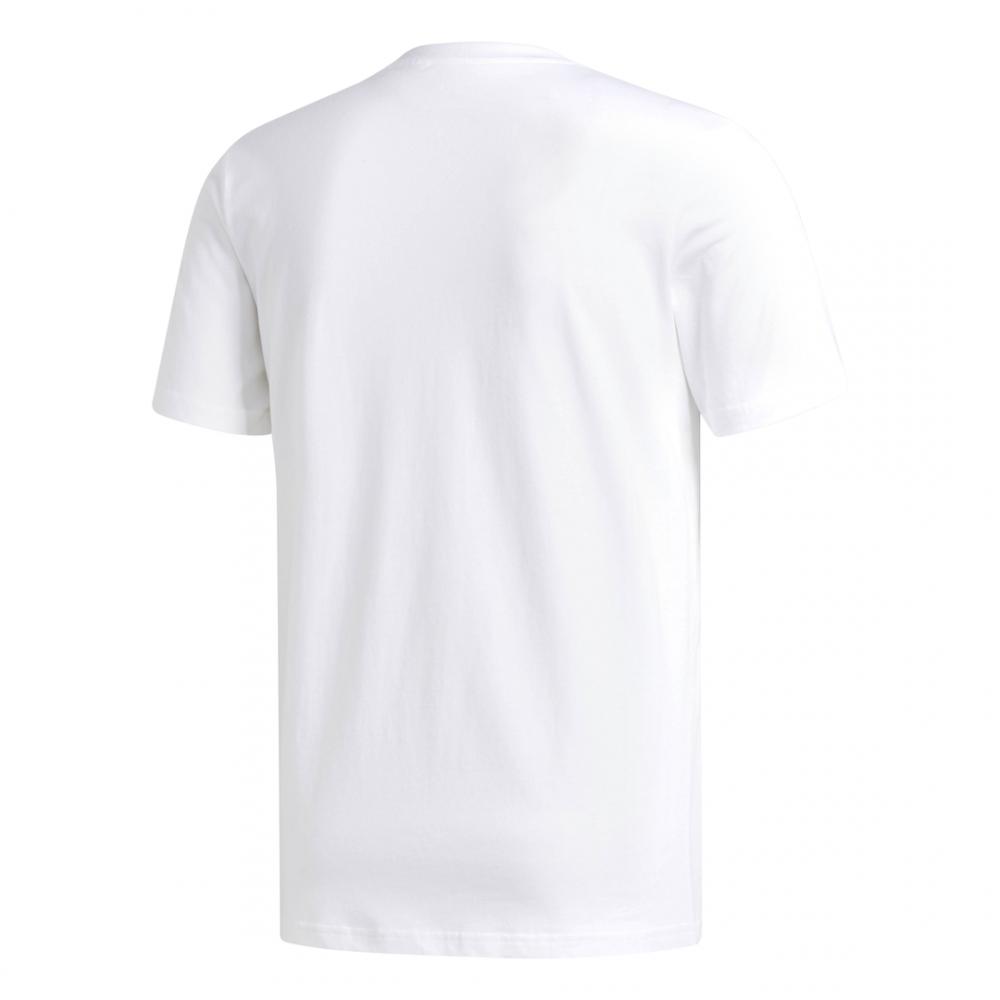 ADIDAS originals t shirt solid bb bianco nero uomo cw233