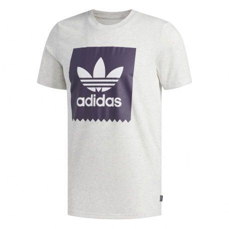 Adidas Originals T Shirt Solid BB Grigio Melange Viola Uomo