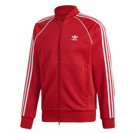 Adidas Originals Felpa Zip SST Rosso Uomo