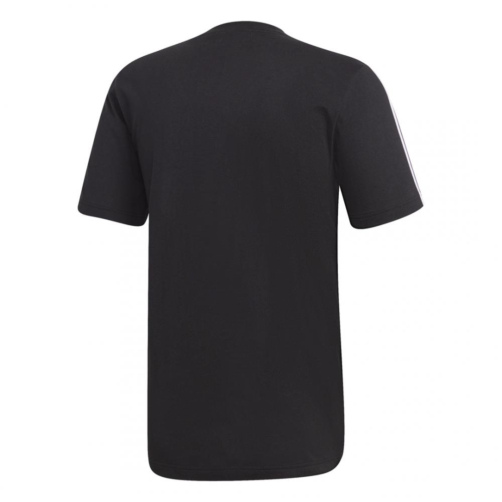 ADIDAS originals maglietta palestra 3 stripe nero uomo