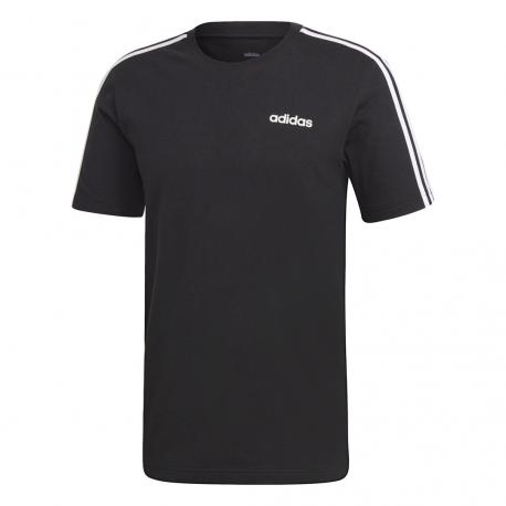 Adidas T Shirt 3 Stripes Nero Bianco Uomo