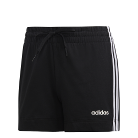 Adidas Short 3 Stripes Nero Bianco Donna