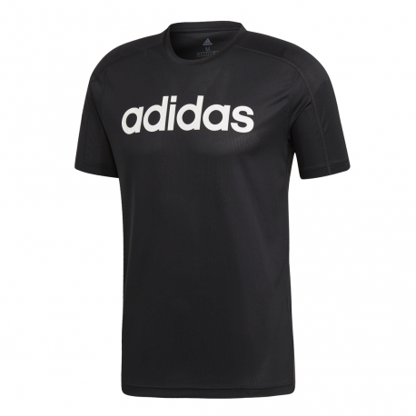 Adidas T Shirt Design 2 Move Logo Nero Donna