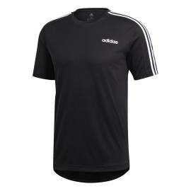 ADIDAS t shirt design 2 move 3 stripes nero uomo