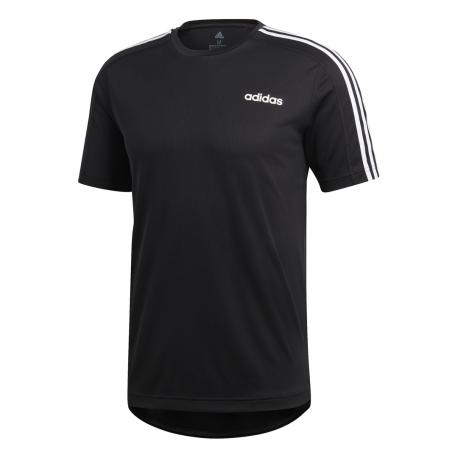Adidas T Shirt Design 2 Move 3 Stripes Nero Donna